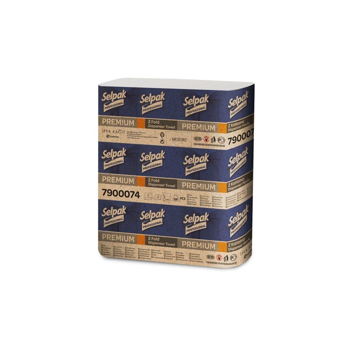 Selpak Professional Premium Z Katlama Dispenser Havlu 200*20 resmi