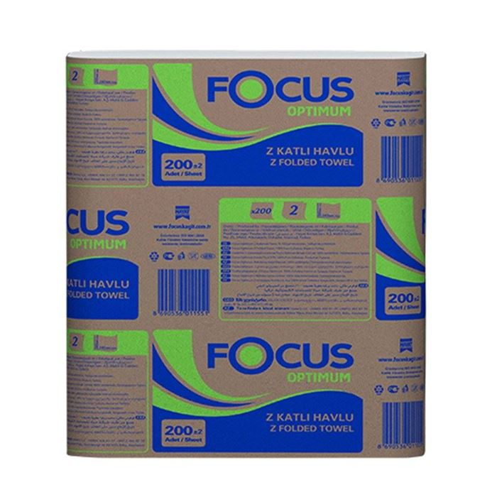 Focus Optimum Z Katlama Dispenser Havlu 200*12 resmi