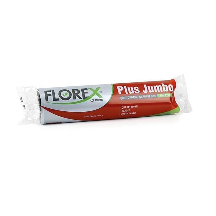 Florex Jumbo Plus Çöp Torbası 10Adet*10Rulo Siyah resmi