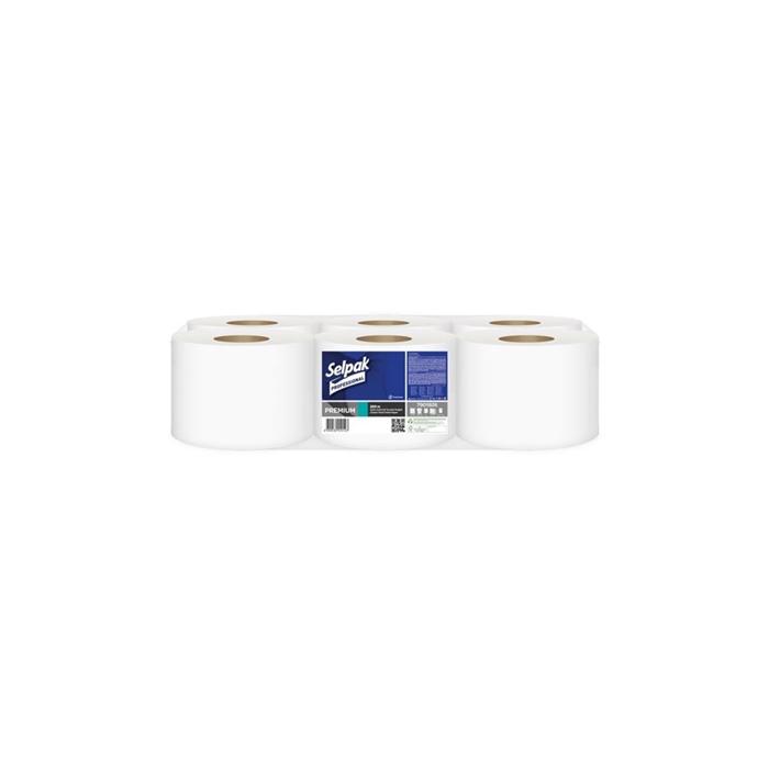 Selpak Professional Premium İçten Çekmeli Tuvalet Kağıdı 220 m 6 Rulo resmi