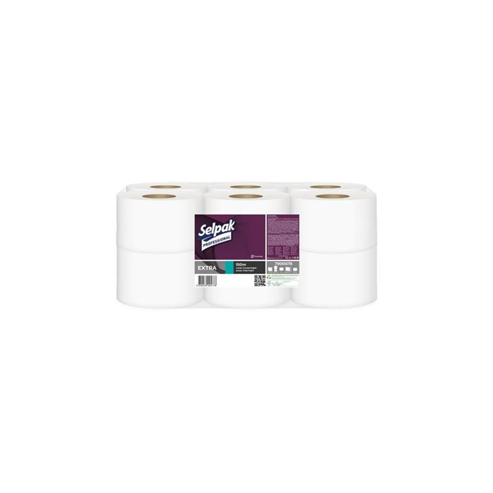 Selpak Professional Extra Jumbo Tuvalet Kağıdı 150 m 12 Rulo resmi