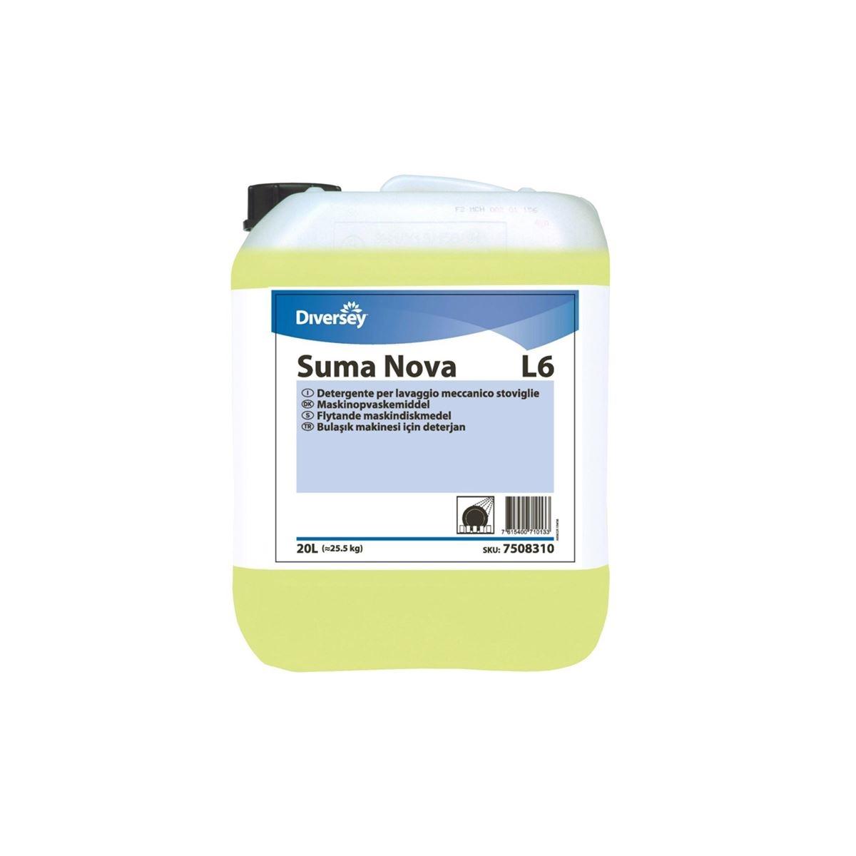 Diversey Suma Nova L6 Sert Sular İçin Bulaşık Makinesi Sıvı Deterjanı 23,30kg resmi