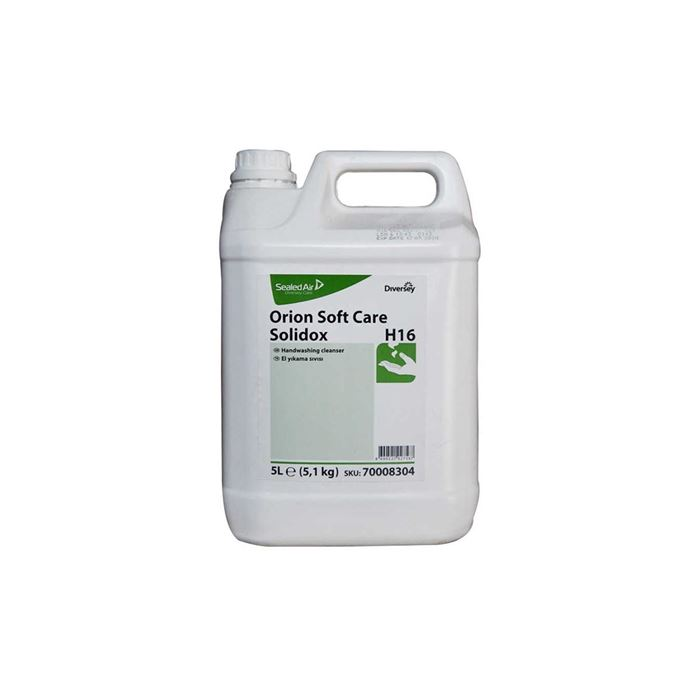 Diversey Orion Soft Care Solidox H16 Sarı Sedefli Parfümlü Güçlü El Yıkama Sıvısı 5,10kg(2'li koli) resmi