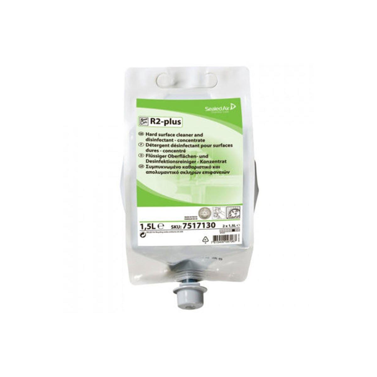 Diversey Room Care R2 Plus Çok Amaçlı Konsantre Yüzey Dezenfektanı 1,55kg (2'li koli) resmi