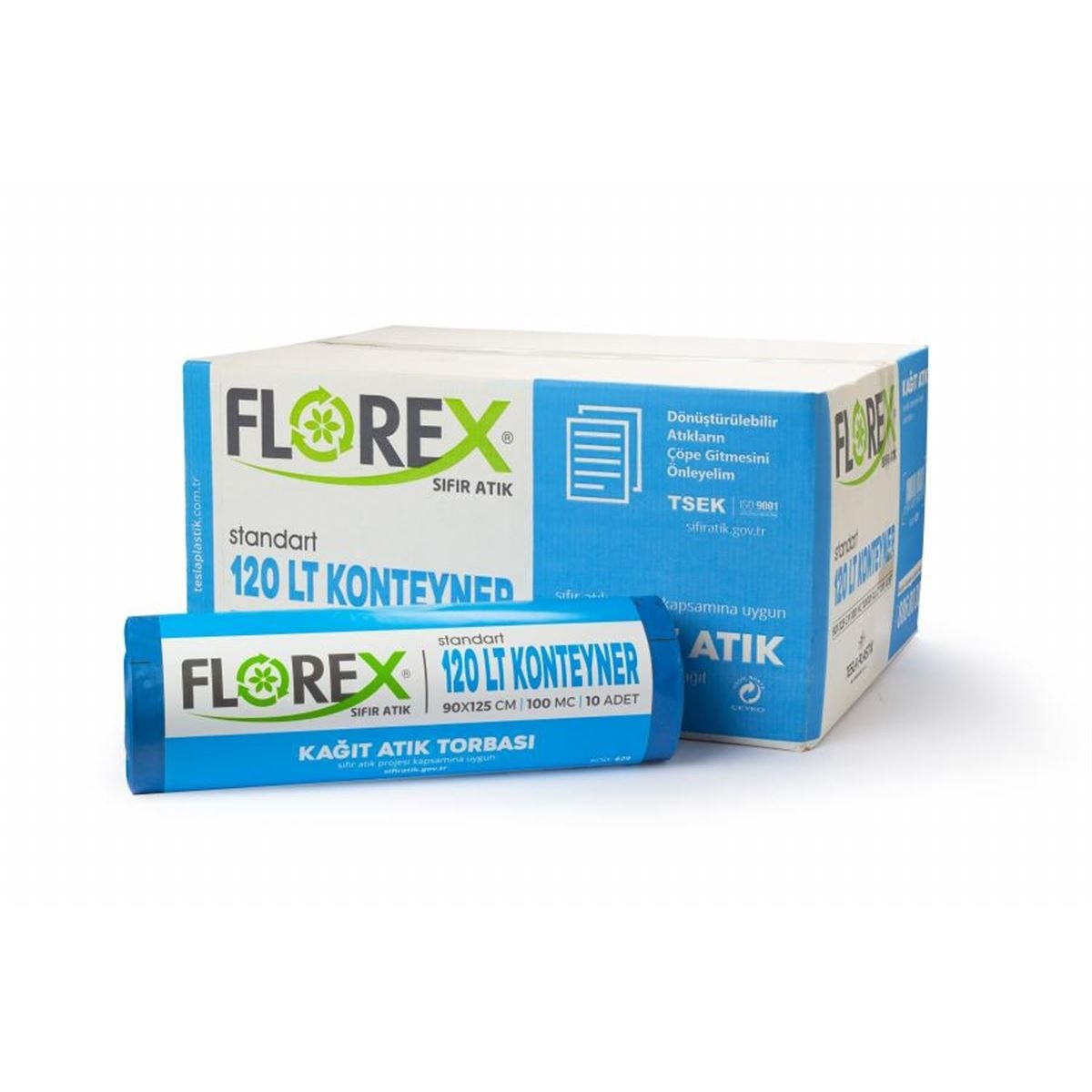 Florex Kağıt Atık Torbası Standart 120lt 10Adet*10Rulo resmi