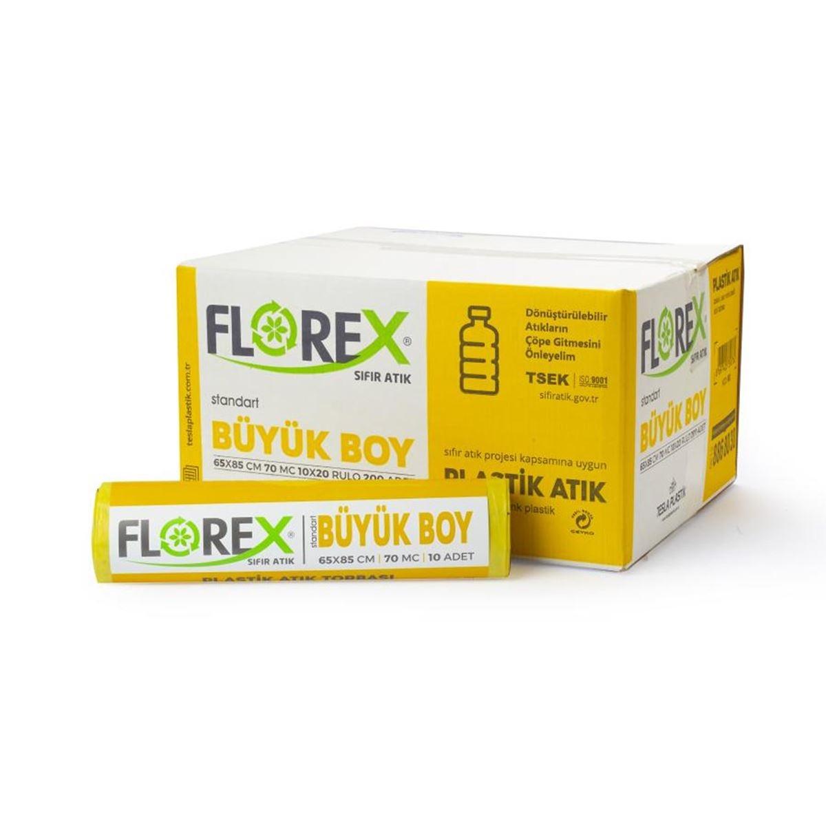 Florex Plastik Atık Torbası Standart Büyük 10Adet*20Rulo resmi