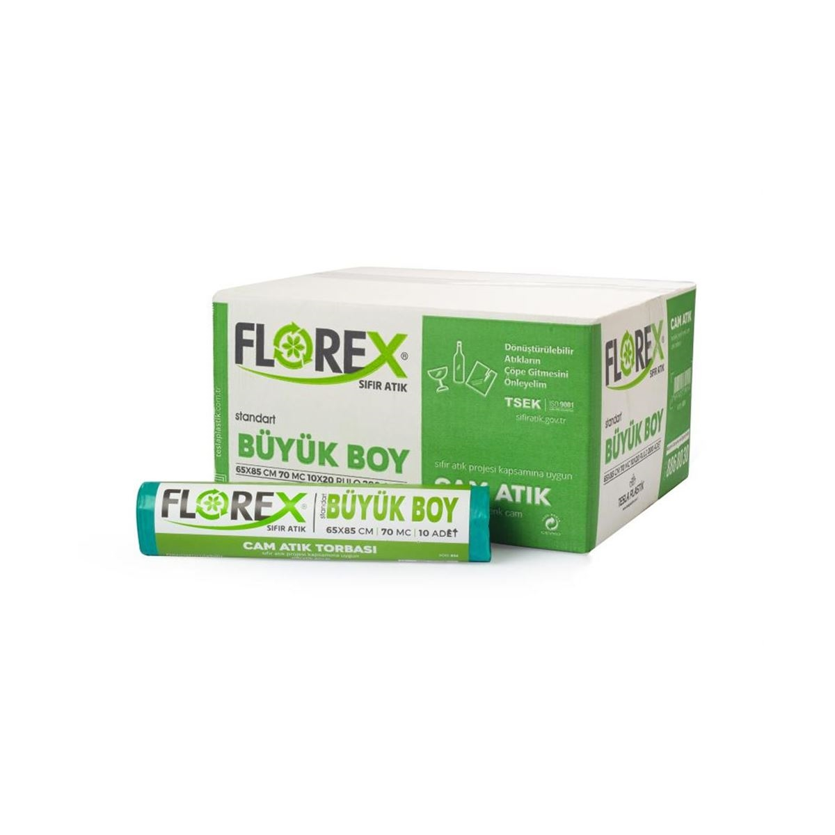 Florex Cam Atık Torbası Standart Büyük 10Adet*20Rulo resmi