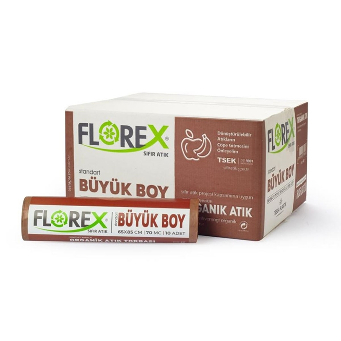Florex Organik Atık Torbası Standart Büyük 10Adet*20Rulo resmi