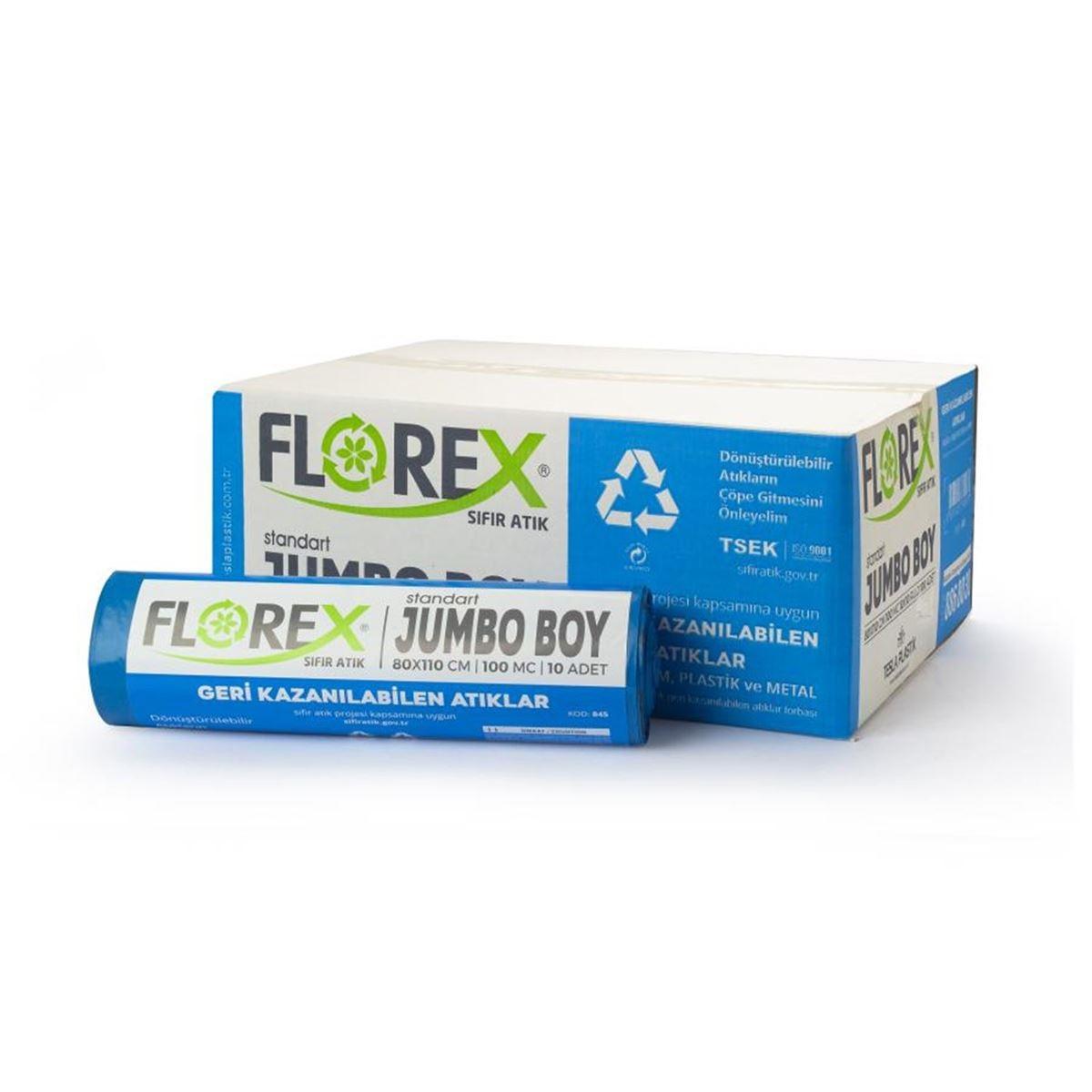 Florex Geri Kazanılabilen Atık Torbası Standart Jumbo 10Adet*10Rulo resmi