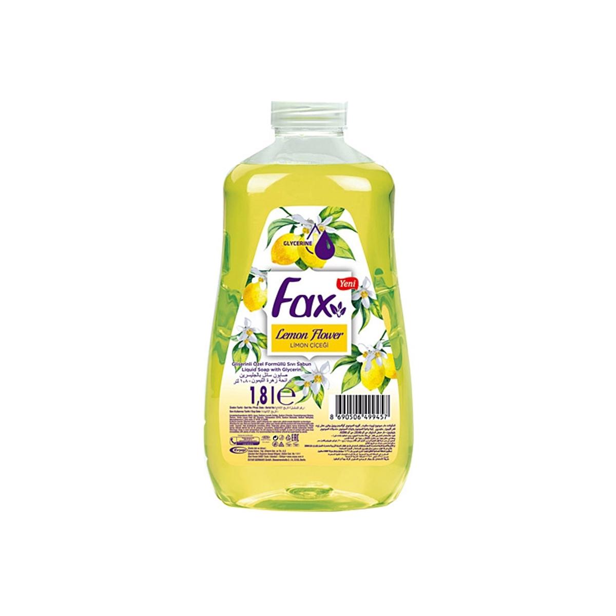 Fax Limon Sıvı Sabun 1,8lt 8'li Koli resmi
