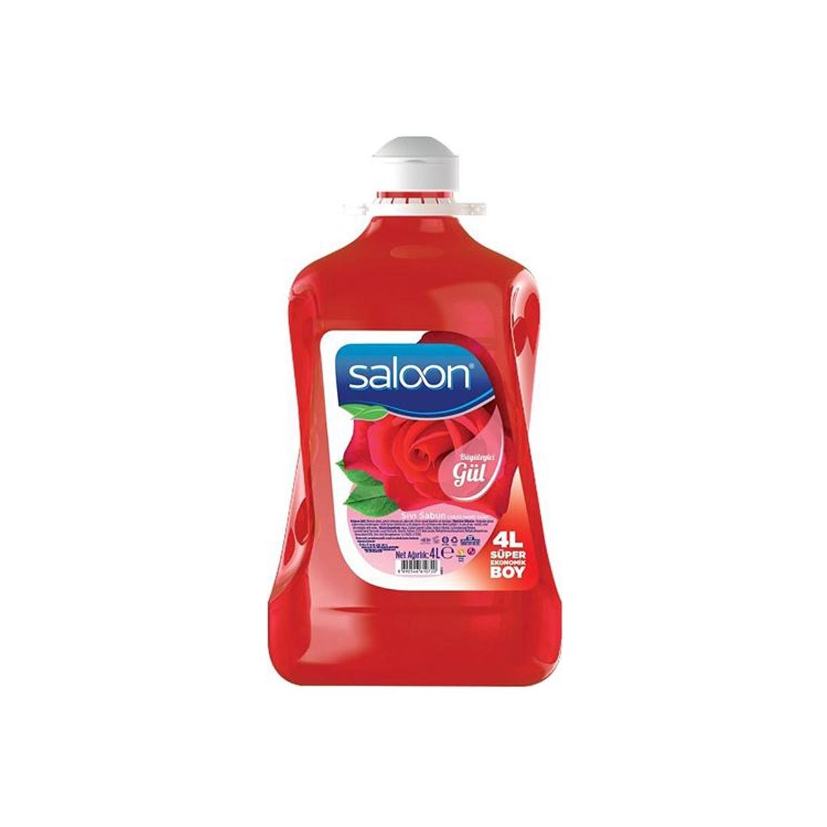 Saloon Sıvı Sabun Gül  3.6lt 4'lü Koli resmi
