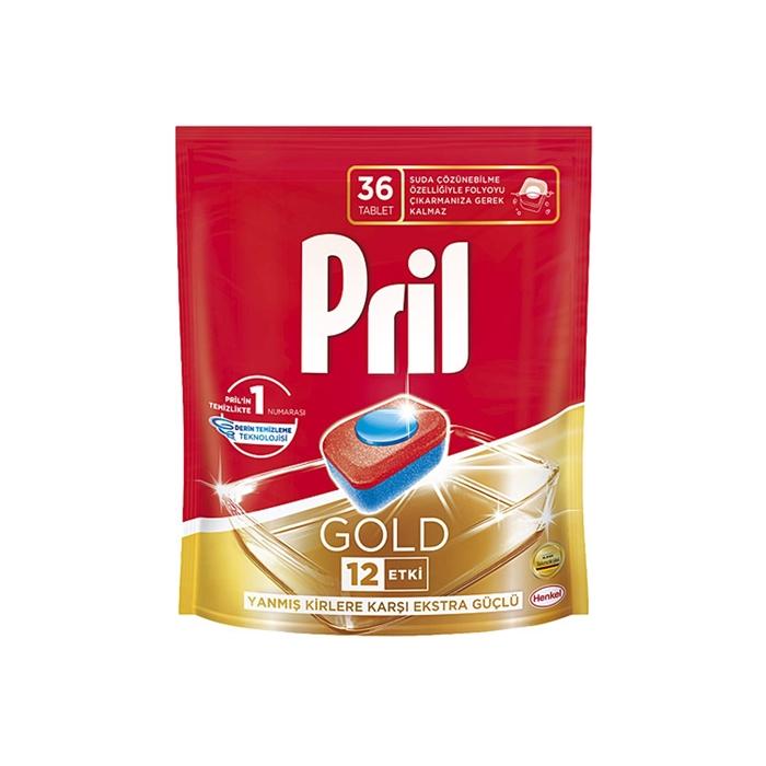 Pril Gold Bulaşık Makinası Deterjanı Tableti 36 Yıkama 6'lı Koli resmi