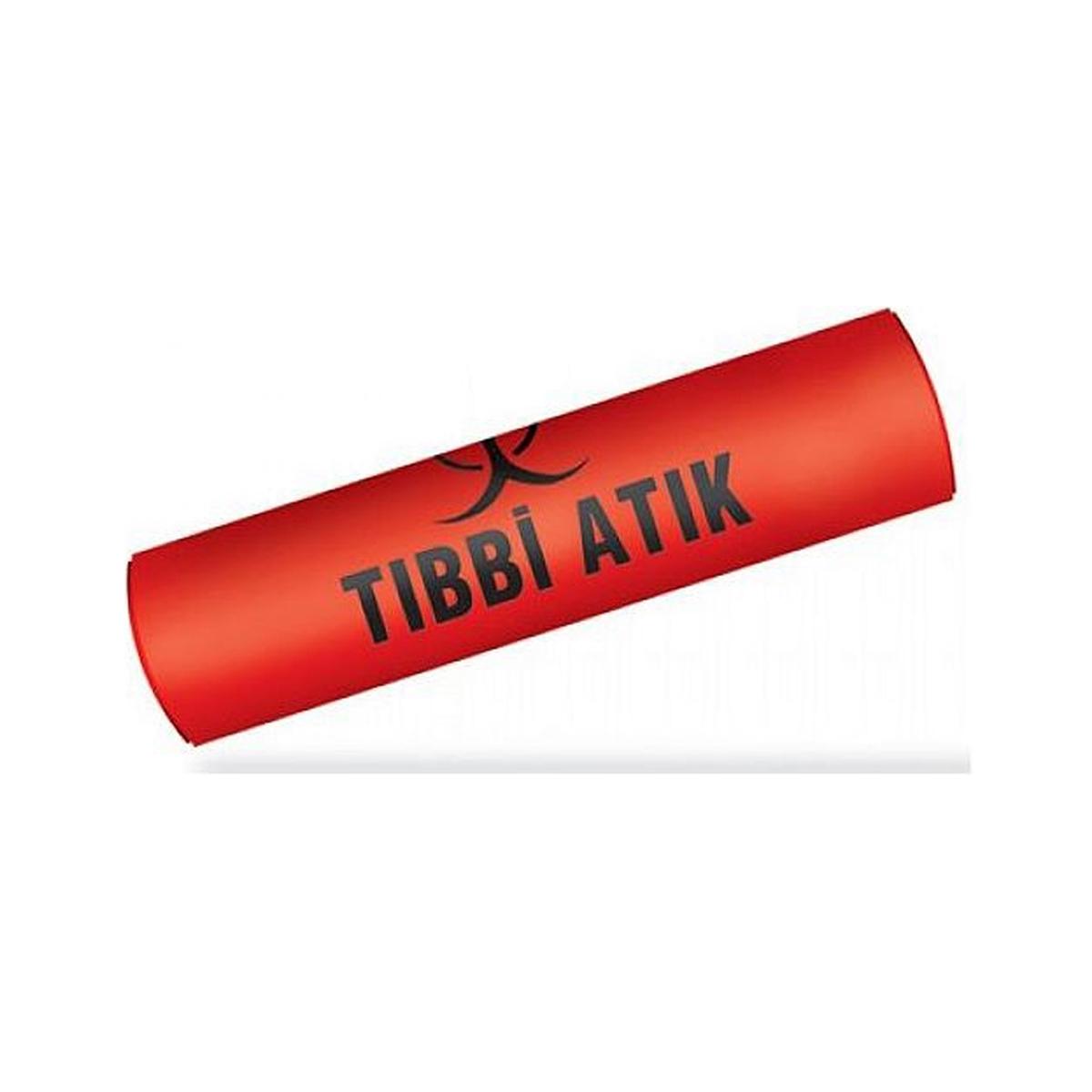 Koroplast Tıbbı Atık Çöp Torbası Battal Boy 72x95 cm Kırmızı 10RL*10AD resmi