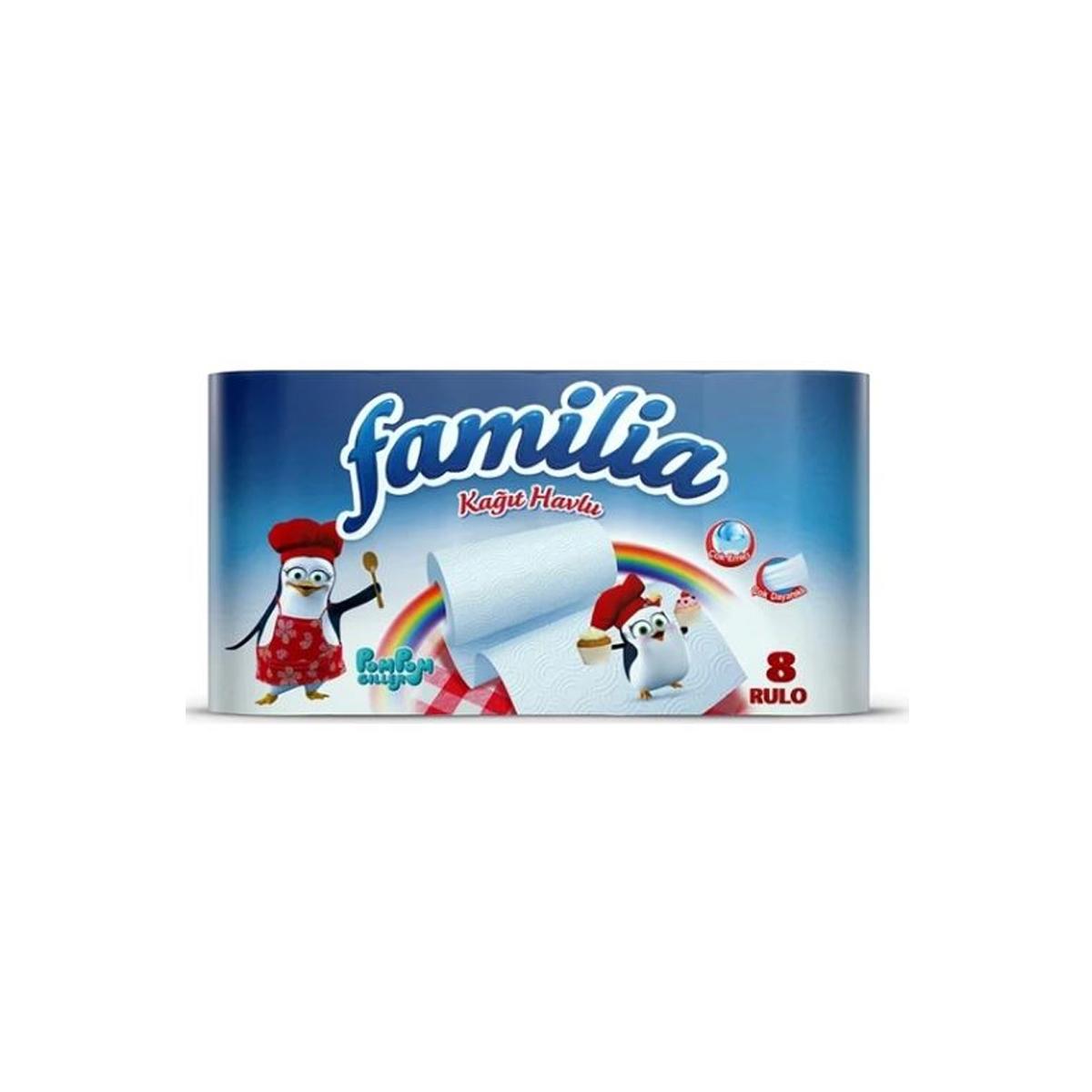 Familia Rulo Havlu 8'li 2 Katlı 3'lü Koli resmi