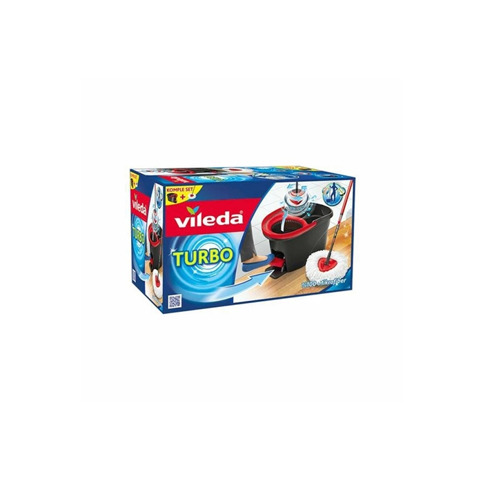 Vileda Turbo Easy Wring and Clean Pedallı Temizlik Seti resmi