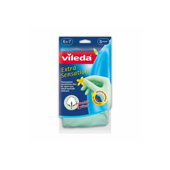 Vileda Extra Sensation Eldiven Büyük 12'li Koli resmi