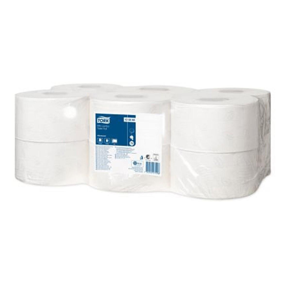 Tork Mini Jumbo Tuvalet Kağıdı Advanced 170m*12 resmi