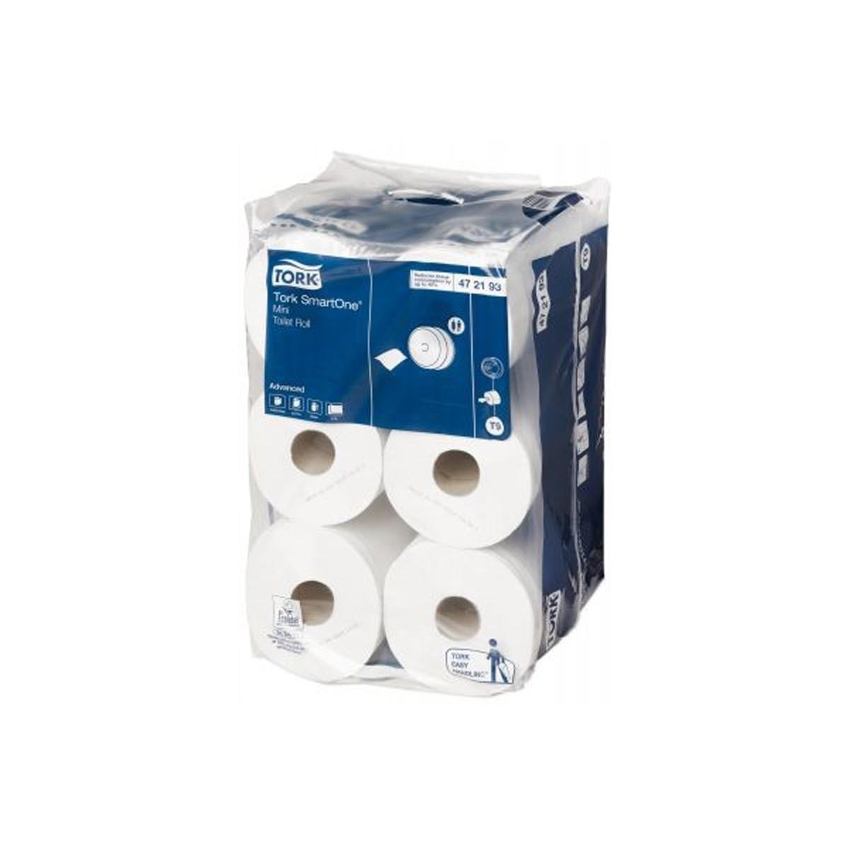 Tork SmartOne İçten Çekmeli Mini Tuvalet Kağıdı 112m*12 resmi