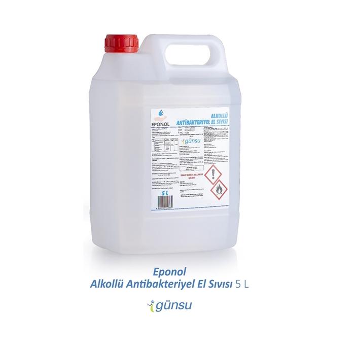 Eponol Alkol Bazlı El Dezenfektanı 5 Litre 4'lü Koli resmi